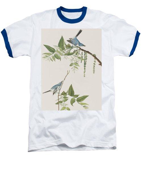 Blue Grey Flycatcher Baseball T-Shirt by John James Audubon