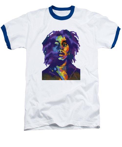 Bob Marley-for T-shirt Baseball T-Shirt by Stephen Anderson
