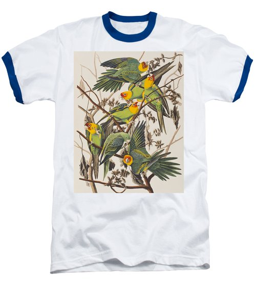 Carolina Parrot Baseball T-Shirt by John James Audubon