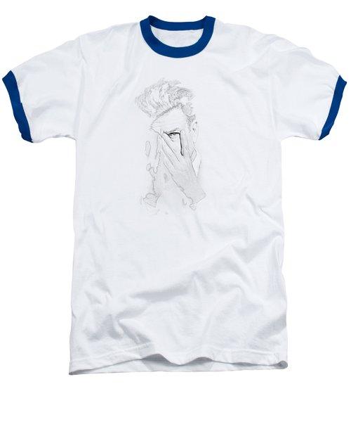 David Lynch Hands Baseball T-Shirt by Yo Pedro