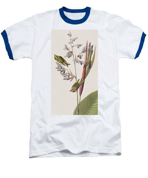 Golden-crested Wren Baseball T-Shirt by John James Audubon