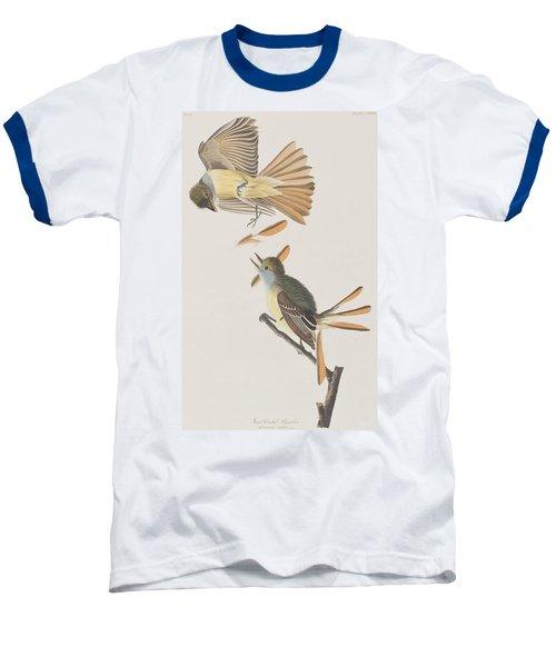 Great Crested Flycatcher Baseball T-Shirt by John James Audubon