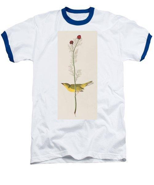 Hooded Warbler Baseball T-Shirt by John James Audubon
