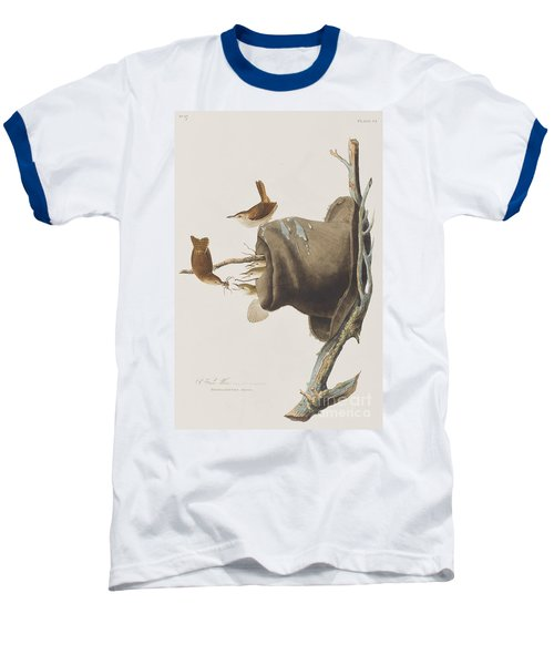 House Wren Baseball T-Shirt by John James Audubon