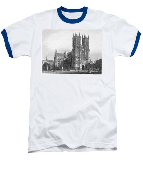 London: Westminster Abbey Baseball T-Shirt by Granger