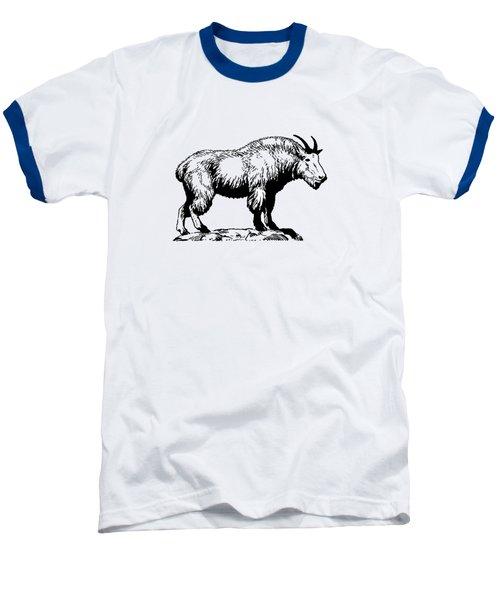 Mountain Goat Baseball T-Shirt by Mordax Furittus