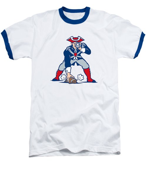 New England Patriots Parody Baseball T-Shirt by Joe Hamilton