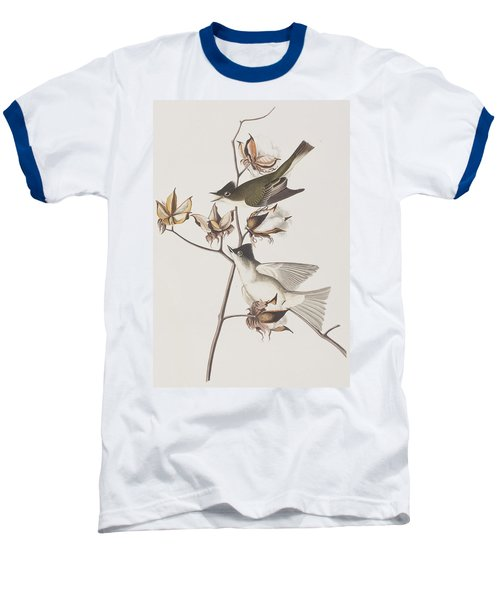 Pewit Flycatcher Baseball T-Shirt by John James Audubon