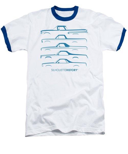 Pickupino Silhouettehistory Baseball T-Shirt by Gabor Vida