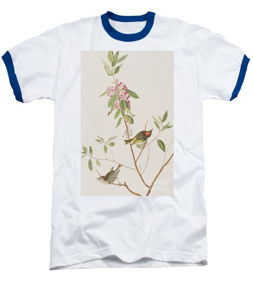Ruby Crowned Wren Baseball T-Shirt by John James Audubon
