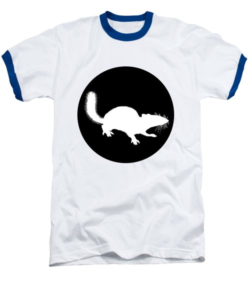 Squirrel Baseball T-Shirt by Mordax Furittus