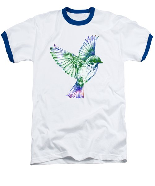 Textured Bird With Changeable Background Color Baseball T-Shirt by Sebastien Coell