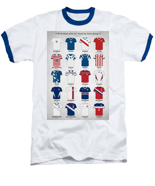 The Evolution Of The Us World Cup Soccer Jersey Baseball T-Shirt by Taylan Soyturk