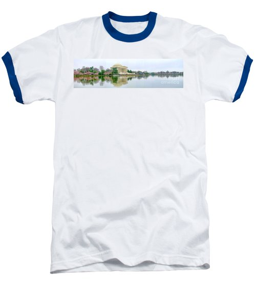 Tidal Basin With Cherry Blossoms Baseball T-Shirt by Jack Schultz
