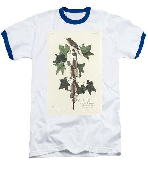 Traill's Flycatcher Baseball T-Shirt by John James Audubon