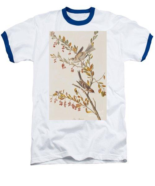 Tree Sparrow Baseball T-Shirt by John James Audubon