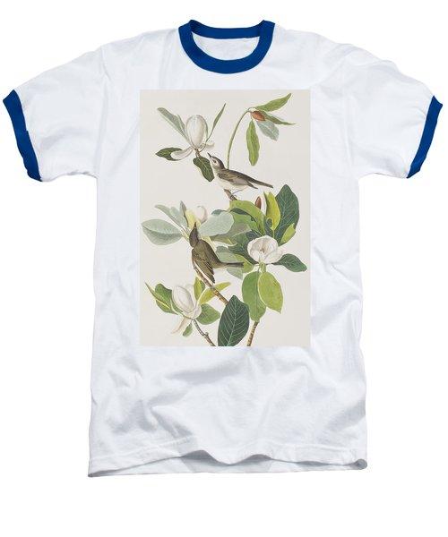 Warbling Flycatcher Baseball T-Shirt by John James Audubon