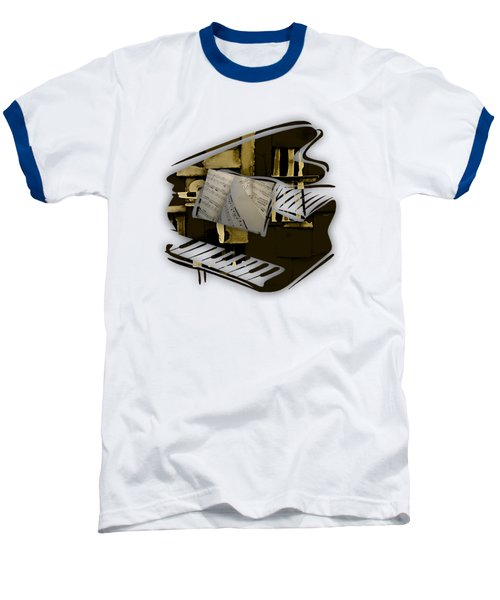 Piano Collection Baseball T-Shirt by Marvin Blaine