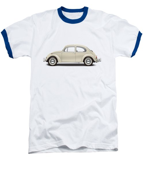 1965 Volkswagen 1200 Deluxe Sedan - Panama Beige Baseball T-Shirt by Ed Jackson