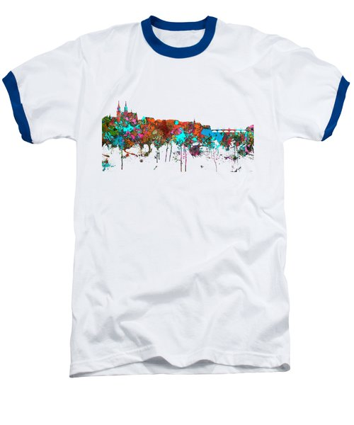 Basle Switzerland Skyline Baseball T-Shirt by Marlene Watson