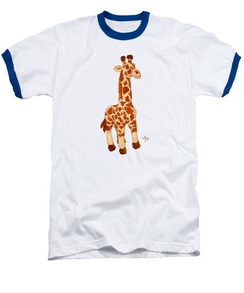 Cuddly Giraffe Baseball T-Shirt by Angeles M Pomata