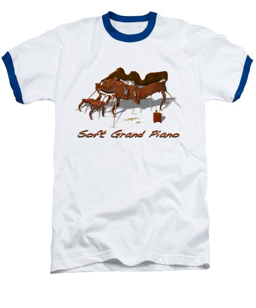 Soft Grand Piano  Baseball T-Shirt by Mike McGlothlen