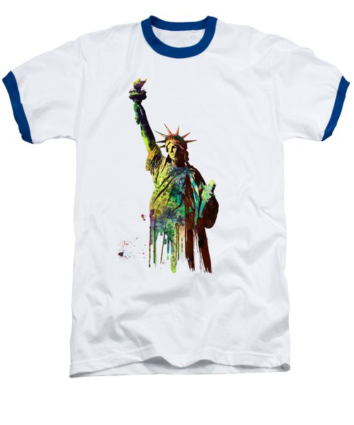 Statue Of Liberty Baseball T-Shirt by Marlene Watson