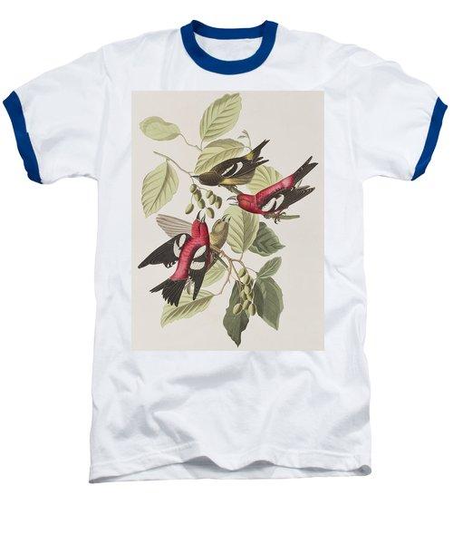 White-winged Crossbill Baseball T-Shirt by John James Audubon