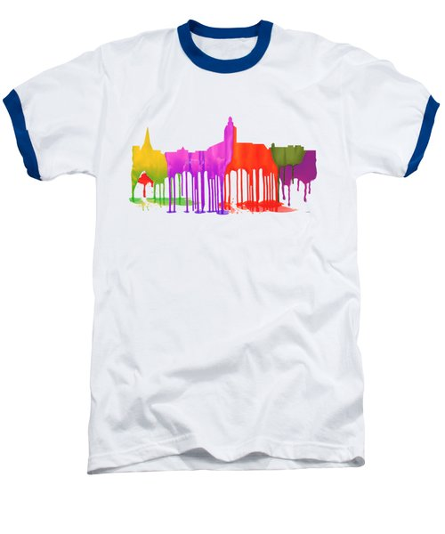 Annapolis Maryland Skyline      Baseball T-Shirt by Marlene Watson