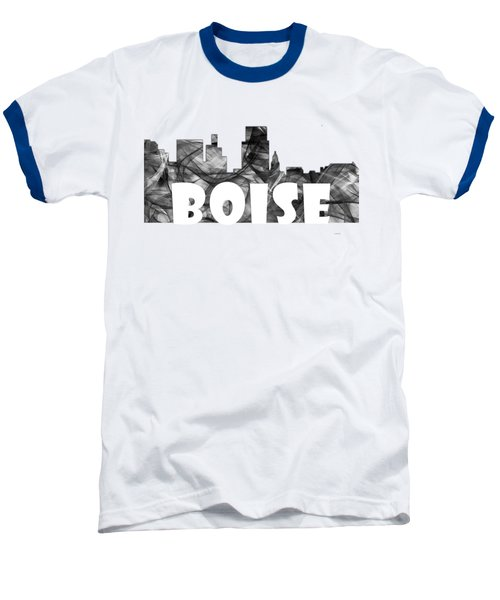 Boise Idaho Skyline Baseball T-Shirt by Marlene Watson