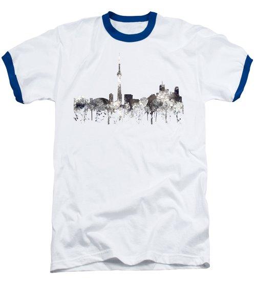 Toronto Ont.skyline Baseball T-Shirt by Marlene Watson