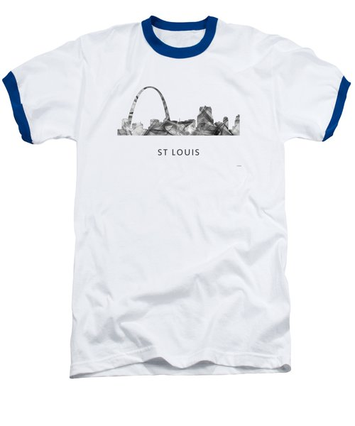 St Louis Missouri Skyline Baseball T-Shirt by Marlene Watson