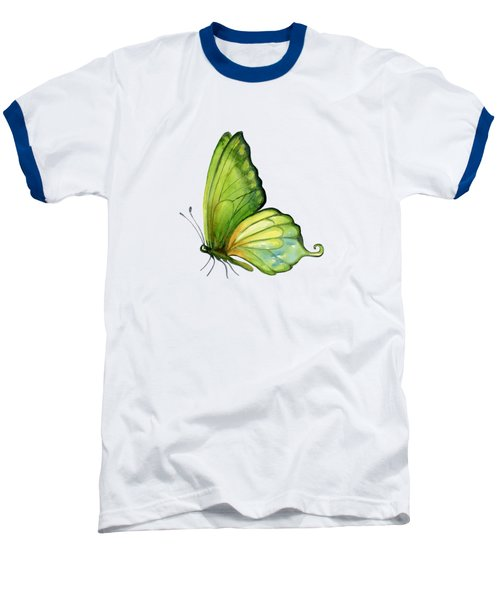 5 Sap Green Butterfly Baseball T-Shirt by Amy Kirkpatrick