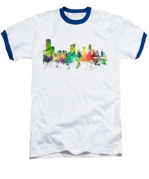 Austin Texas Skyline Baseball T-Shirt by Marlene Watson