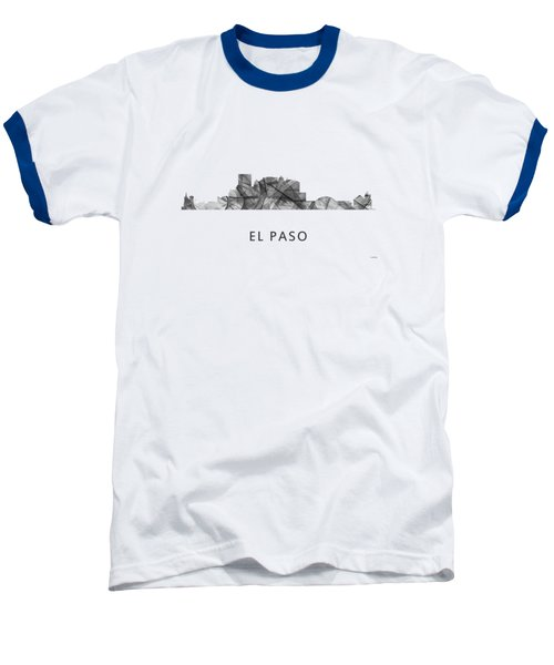 El Paso Texas Skyline Baseball T-Shirt by Marlene Watson