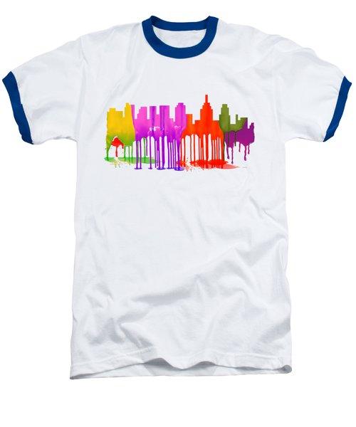 Philadelphia Pennsylvania Skyline Baseball T-Shirt by Marlene Watson