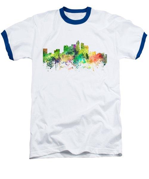 Los Angeles California Skyline Baseball T-Shirt by Marlene Watson