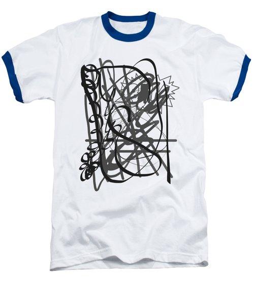 Abstract Baseball T-Shirt by Oksana Demidova