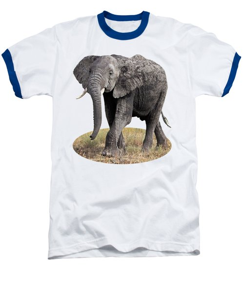 African Elephant Happy And Free Baseball T-Shirt by Gill Billington