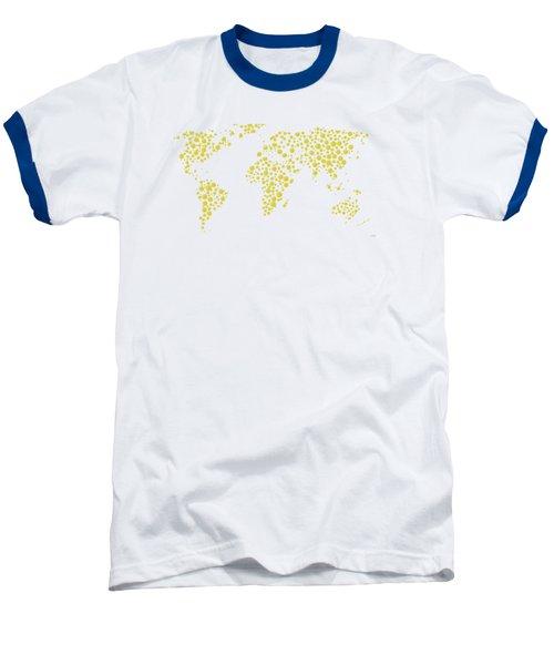 All The World Plays Tennis Baseball T-Shirt by Marlene Watson