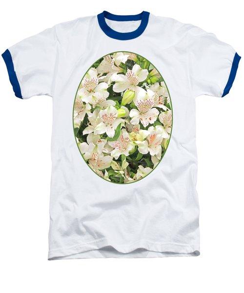 Alluring Alstroemeria - Peruvian Lilies Baseball T-Shirt by Gill Billington
