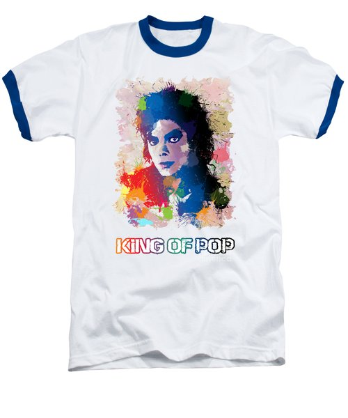 King Of Pop Baseball T-Shirt by Anthony Mwangi