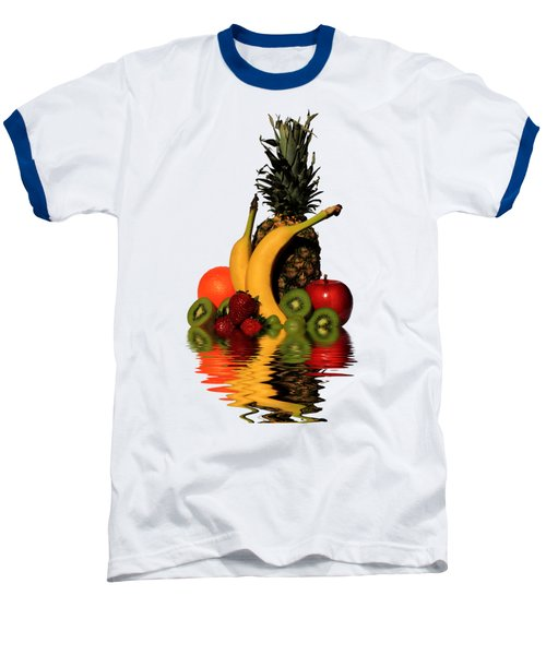 Fruity Reflections - Light Baseball T-Shirt by Shane Bechler