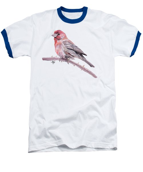 House Finch Baseball T-Shirt by Angeles M Pomata