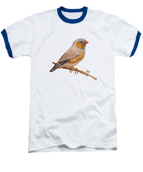 Zebra Finch Baseball T-Shirt by Angeles M Pomata
