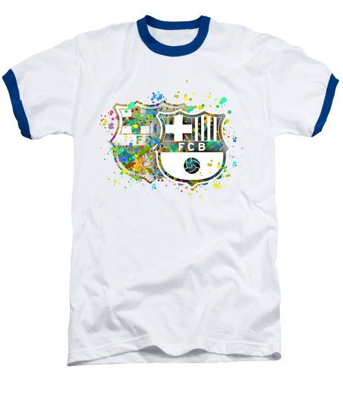 Tribute To F C Barcelona 7 Baseball T-Shirt by Alberto RuiZ