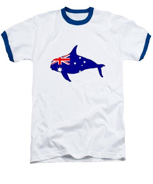 Australian Flag - Killer Whale / Grampus / Orca Baseball T-Shirt by Mordax Furittus