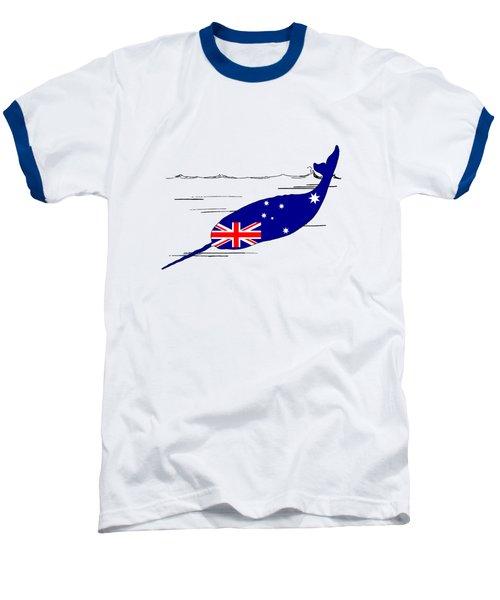 Australian Flag - Narwhal Baseball T-Shirt by Mordax Furittus
