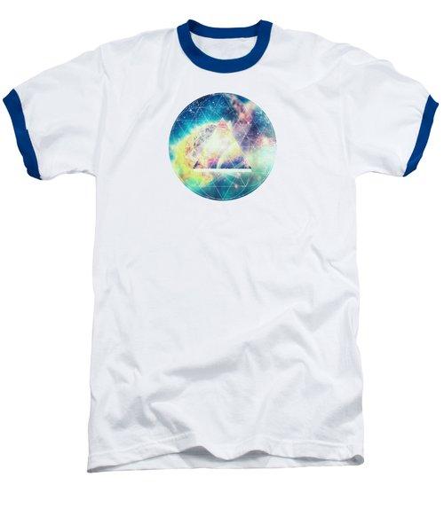 Awsome Collosal Deep Space Triangle Art Sign Baseball T-Shirt by Philipp Rietz