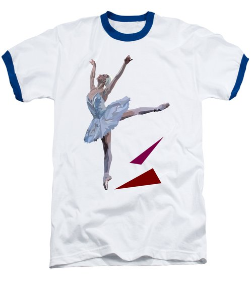 Ballerina Dancing Swan Lake Baseball T-Shirt by James Bryson